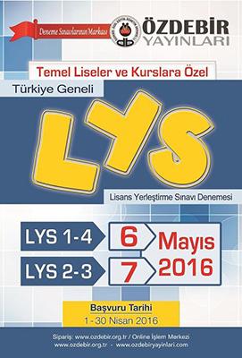 LYS Deneme Sınavı Özdebir